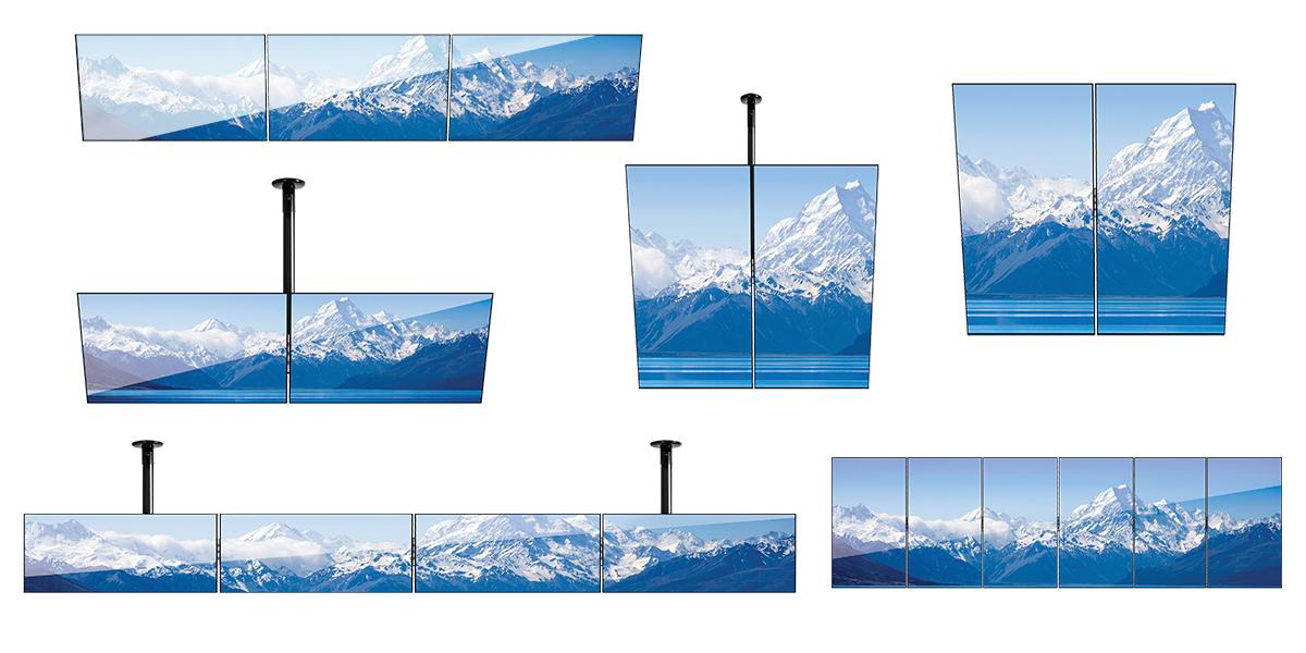 Dowolna konfiguracja ściany wideo