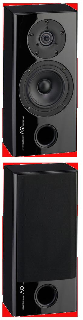 AQ Pontos S  W obudowie znajduje się identyczny głośnik jak Pontos 9, ale o zredukowanej głębokości – 15 cm łącznie z ramką, głośniki Scan-Speak, o mocy 120W.  Idealne wymiary głośników, przeznaczonych dla prawidłowego funkcjonowania kinie domowego. Pontos S konceptualnie, jest zaprojektowany jako dwudrożny głośnik surround z systemem bassreflex.Bassreflex, umieszczony jest od frontu, dzięki temu głośnik można umieścić bezpośrednio na ścianie. Do tego dedykowany jest praktyczny uchwyt AQ SAT 4 lub BT 1.  Korpus wykonany jest z płyty MDF, obudowa o konstrukcji warstwowej. Ze względu na swoje kompaktowe wymiary, sztywność korpusu jest idealna, nie brakuje w nim systemu usztywnień wewnętrznych. Bassreflex znajduje się w dolnej części obudowy. Maskownice są pokryte czarną tkaniną i są przymocowane za pomocą magnesów. Podczas ich zdejmowania, punkty mocowania nie są widoczne. Gniazdo głośnikowe jest wyposażony w zaciski śrubowe, które umożliwiają połączenie bi-wiring i bi-amping. Zastosowane wewnętrzne przewody łączące, to kable amerykańskiej firmy AUDIOQUEST z serii Rocket 33. Stosując ten sam typ kabla do podłączenia ze wzmacniaczem, zapewnimy maksymalną szczegółowość i dokładność w odtwarzaniu audio.  Oba zamontowane głośniki pochodzą z duńskich fabryk Scan-Speak. Obudowa kosza głośnika niskotonowego i membrana wykonane są z włókna szklanego zapewniają nawet przy stosunkowo niewielkiej objętości pełny i stały bas. Używany wysokotonowy głośnik jest taki sam jak w większych modelach z tej serii, a tym samym zapewnia takie same doskonałe warunki w wysokich częstotliwościach, dzięki specjalnej konstrukcji czaszy z rozszerzonym nabiegunnikiem, który zapewnia większy obszar odsłuchu niż zwykle ze standardowym kulowym.  Warstwowe wykończenie wszystkich zestawów Pontos, jest zrobione poprzez wysokojakościowy lakier fortepianowy, nanoszony w ośmiu warstwach. Zwartość i warstwa lakieru, mają bardzo pozytywny wpływ na sztywność obudowy.  Mimo, że jest to jeden z najmniejszych mo