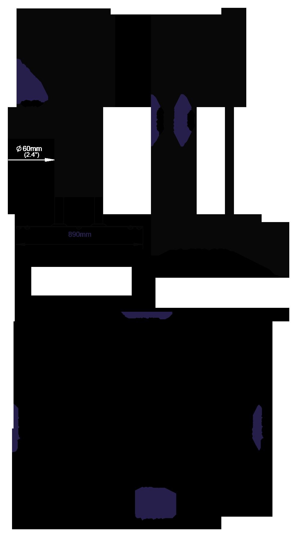 Stojak podłogowy do płaskich ekranów BT8552 wys.150