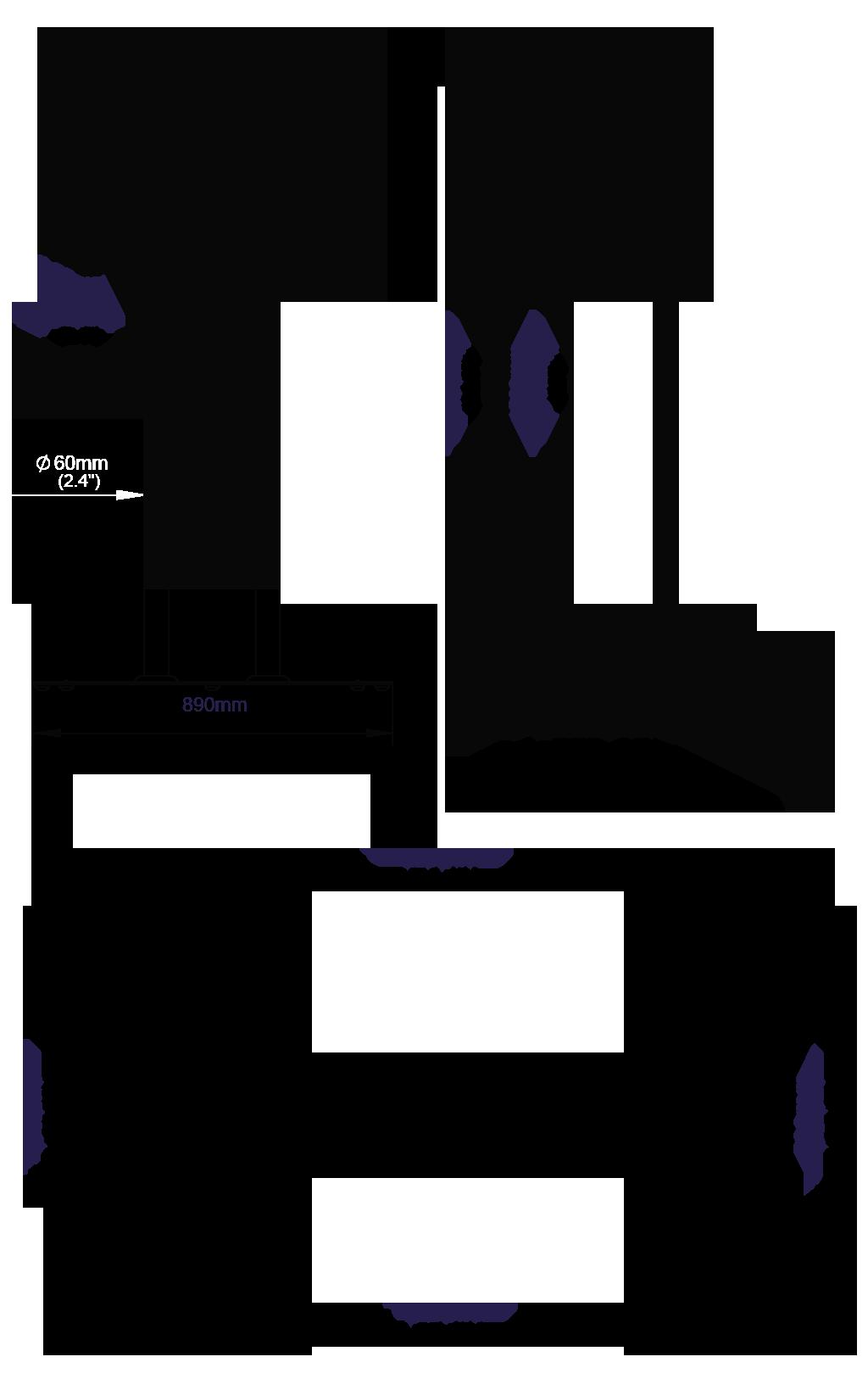 Stojak podłogowy do ekranów o dużej przekątnej BT8553