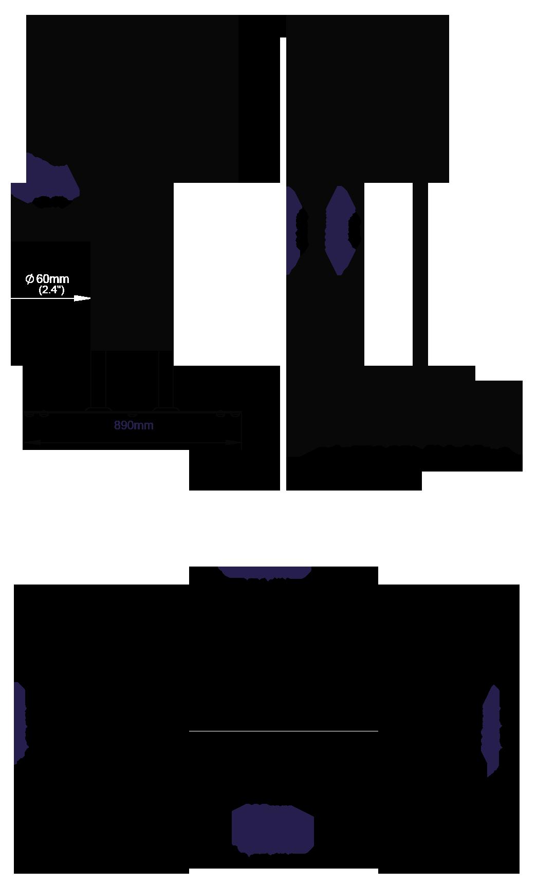 Stojak podłogowy do płaskich ekranów BT8554-150