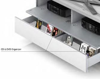 CD & DVD Organizer Wkład na płyt CD i DVD, zapewnia maksymalne wykorzystanie przestrzeni w głębokiej szufladzie.