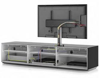 System zarządzania kablami Kable są istotną część systemu audio, ale nie chcesz, aby były widoczne. Wielokrotne i dyskretne kanały, zapewnią łatwy dostęp do okablowania utrzymując je poza zasięgiem wzroku.