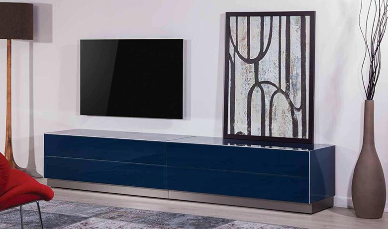 Luksusowa szafka audio video rtv do telewizorów o dużej przekątnej ekranu SONOROUS ELEMENTS EX