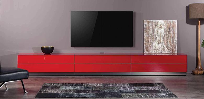 Luksusowy stolik audio video Tureckiego producenta Mebli rtv Sonorous z serii ELEMENTS EX