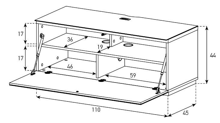 Wymiary stolika STA-110