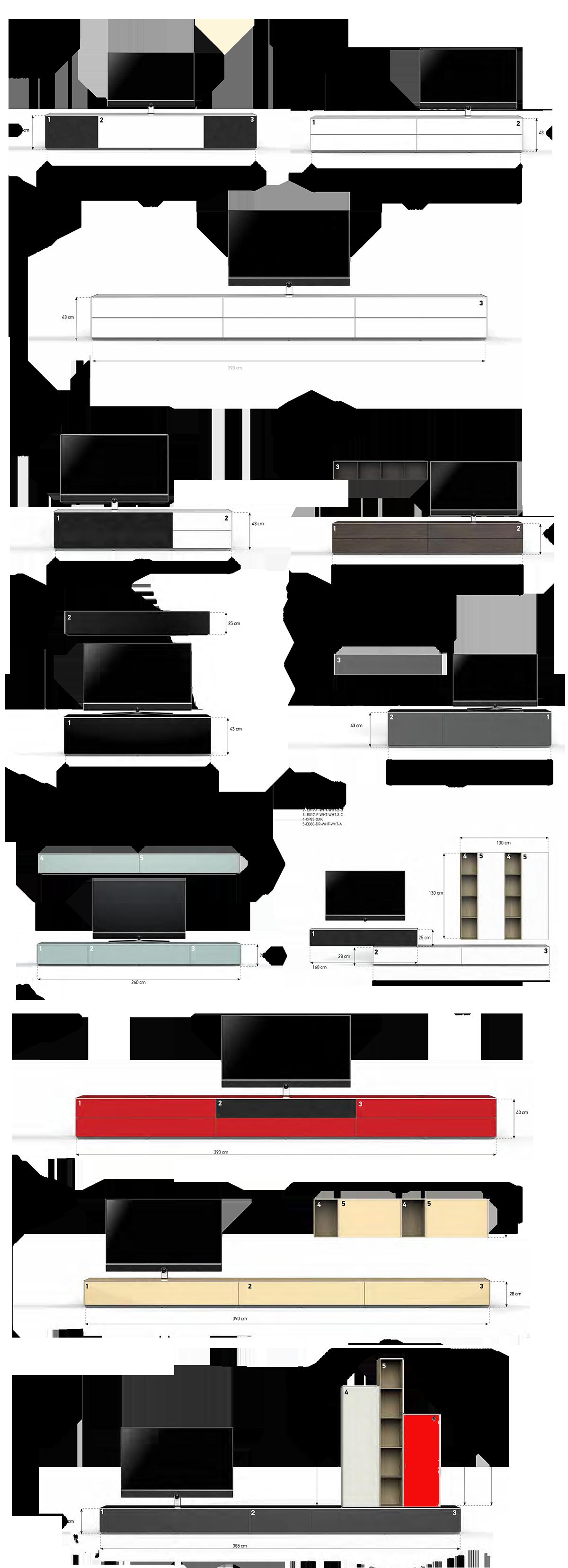 Sonorous® prezentuje nową luksusową serię mebli audio-video ELEMENTS, wykonaną z najwyższej jakości materiałów, dbałość o szczegóły designu zaspokoją najbardziej wybrednych estetów. Nowa prestiżowa seria EX została zaprojektowana tak, aby spełnić surowe wymagania dzisiejszej elektroniki z naciskiem na jakość, funkcjonalność i estetykę. Luksusowe meble seri ELEMENTS są ręcznie składane co dodatkowo wpływa na ich solidne i estetyczne wykonanie. Używane hartowane szkło bezodpryskowe, zapewnia nam pięć razy wyższą odporność na zarysowania lub stłuczenie niż zwykłe szkło, do tego szeroki wybór kolorystyki drewna lub lakieru, pozwala nam na dopasowanie mebli do Twojego wnętrza. W zestawie znajduje się przedłużacz do pilotów na podczerwień, umożliwiający obsługę urządzeń bez konieczności otwierania szafki stolika. SonorousIR2000, przedłużacz do pilotów na podczerwień, zestaw składa się z odbiornika, który umieszcza się w widocznym miejscu oraz 8 nadajników przekazujących komendy z pilota do 8 niezależnych urządzeń, które mogą być umieszczone w zamkniętej, niewidocznej z zewnątrz przestrzeni. Przewody odbiornika i nadajników podłącza się do aktywnego modułu rozdzielającego i wzmacniającego sygnał podczerwieni. Dzięki zestawowi można obsługiwać do 8 urządzeń jednocześnie z gwarancją stabilnego przesyłu sygnału. Przednie drzwi szafki opcjonalnie mogą być pokryte tkaniną akustyczną, dostępną w trzech kolorach, co pozwala nam na umieszczenie w stoliku głośnika centralnego lub soundbar, czyniąc go niewidocznym dla oka, za to czysty i wyraźny dźwięk wypełni całe pomieszczenie w domu. Dotknij front stolika aby otworzyć drzwi, a ujrzysz wystarczająco dużo miejsca, aby pomieścić najbardziej wyrafinowany system i zbiór urządzeń audio – video. Zintegrowany system zarządzania kablami audio - video, pozwala na estetyczne ukrycie przewodów, aby uniknąć niepotrzebnych tworzących się pajęczyn kabli i przewodów. Duża wytrzymałość górnej półki, pozwalana nam na umieszczenie na stoliku ekranó