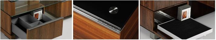Stoliki SONOROUS charakteryzują się wysoką funkcjonalnością, jakością użytych materiałów - zachowując przy tym prostotę montażu. Dbałość o szczegóły designu zaspokoją najbardziej wybrednych estetów.