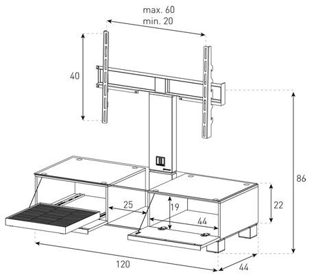 wymiary stolika md8120