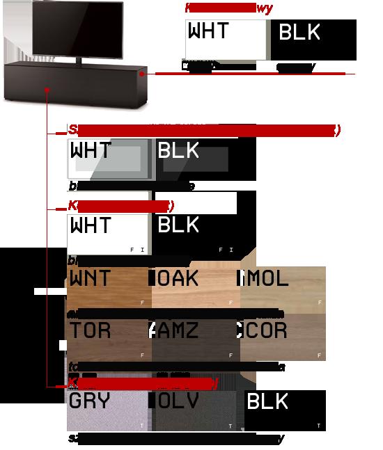 Kolor szafki pod telewizor STA-111 SONOROUS