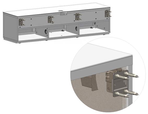 Mocowanie szafki na ścianie STA-260 SONOROUS