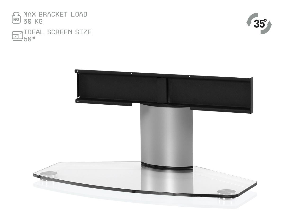 Sonorous PL2310 Stojak - Noga pod telewizor, szklana podstawa