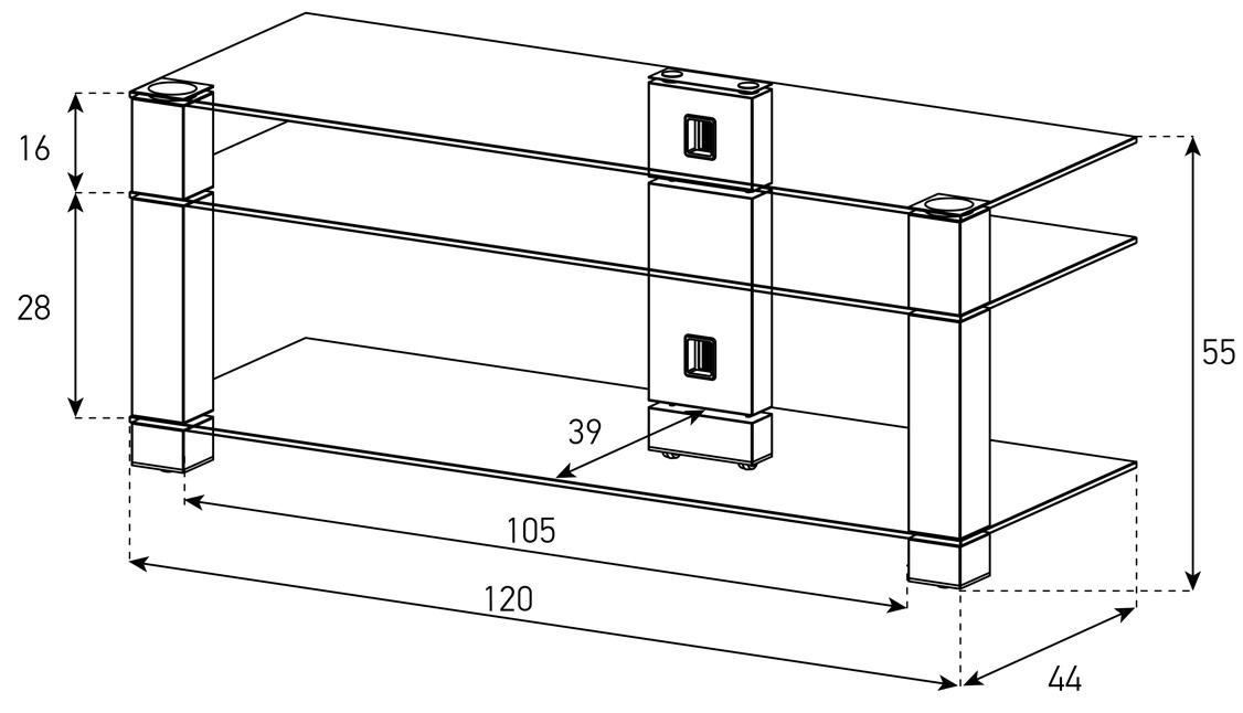 Wymiary stolika pod telewizor PL3400