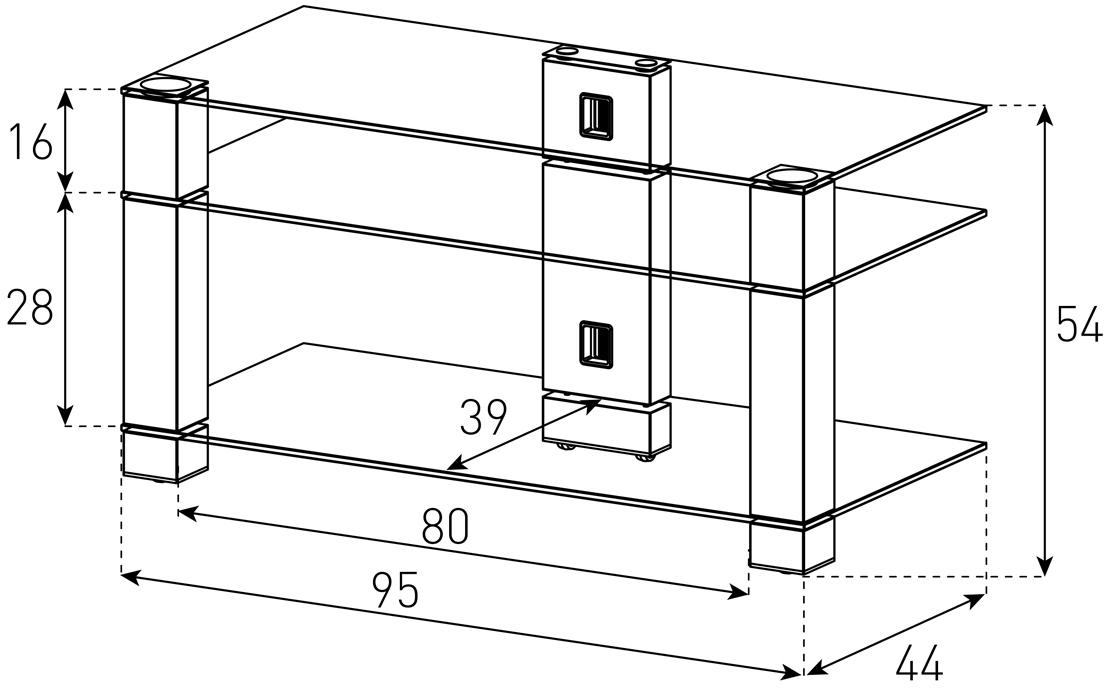 Wymiary stolika pod telewizor PL3405