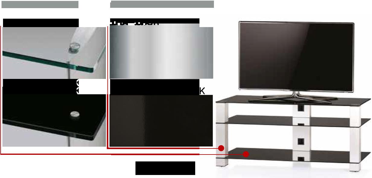 Kolor stolika pod telewizor PL3405