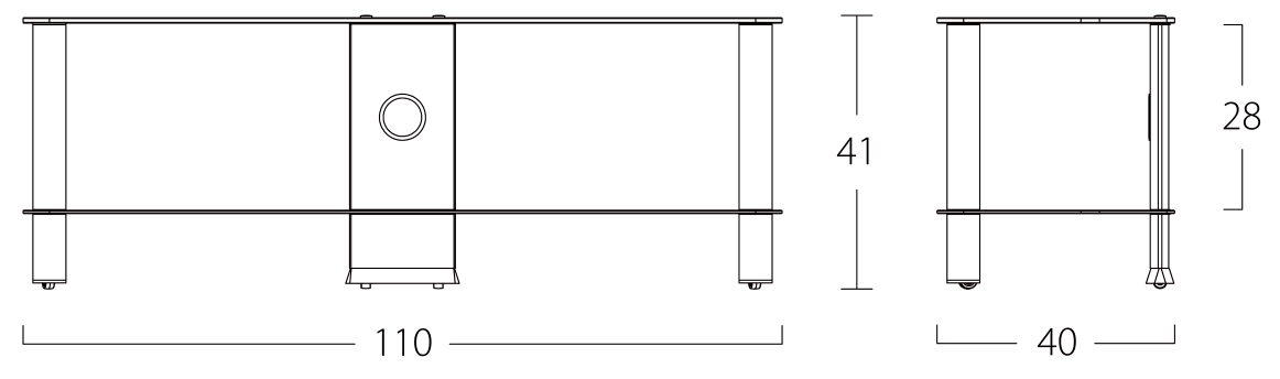 Wymiary stolika pod telewizor NEO2110