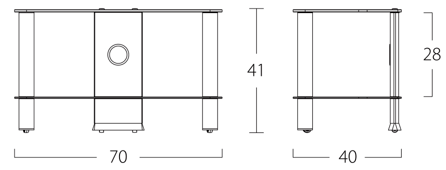 Wymiary stolika pod telewizor NEO270