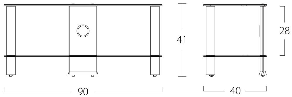 Wymiary stolika pod telewizor NEO290