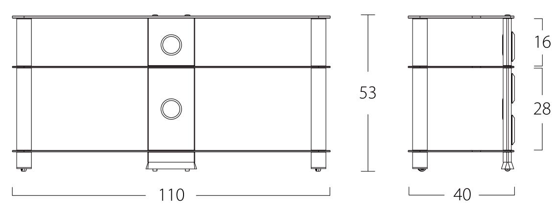 Wymiary stolika pod telewizor NEO3110