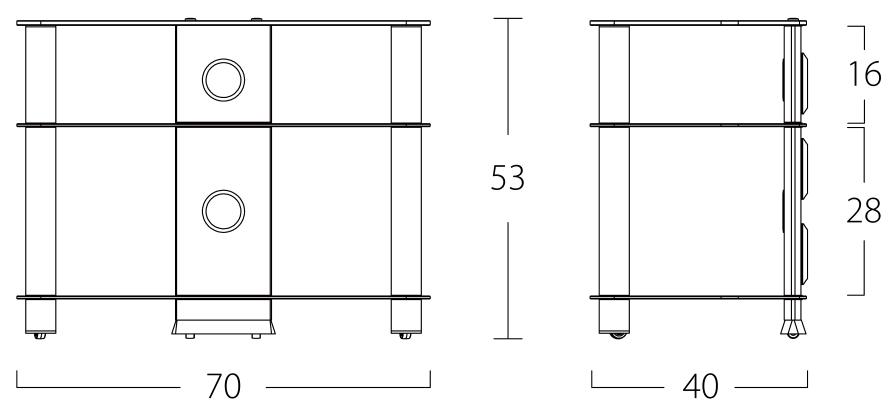 Wymiary stolika pod telewizor NEO370